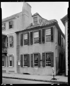 "Porgy House. Dubose Heyward's home on Church Street where he wrote the novel, ""Porgy."""