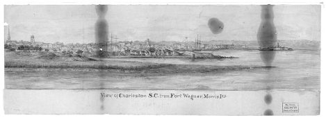 View of Charleston from Ft. Wagner