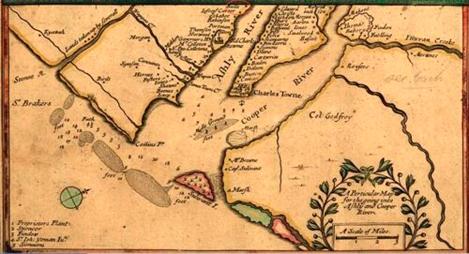 Joel Gascoyne map 1682