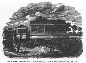 Washington Race Track - 1857. A one-mile loop around what is present day Hampton Park. Library of Congress