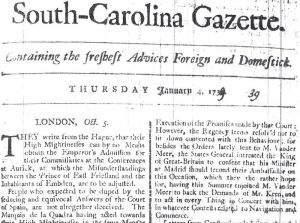 SC_Gazette_1_4_1739_front_page