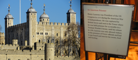 Tower of London; Laurens marker. Photo by author.