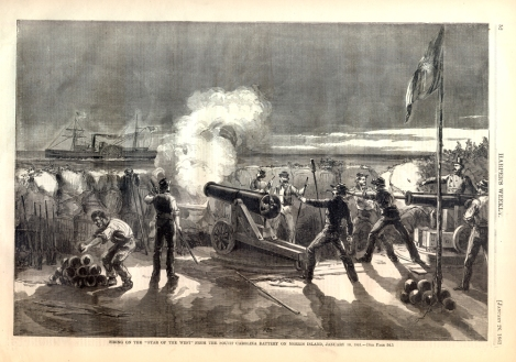 Firing on the Star of the West - Harper's Weekly.