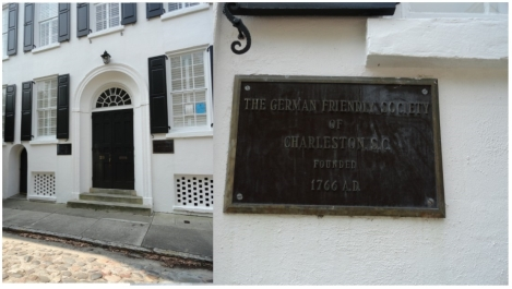 German Friendly Society, Chalmers Street. close-up of marker on building.