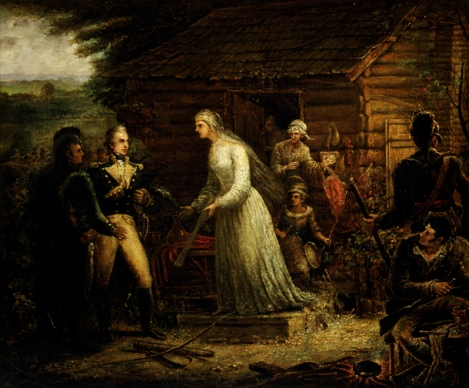 Mrs. Motte directing Generals Marion and Lee to Burn Her Mansion to Dislodge the British. By John Blake White.