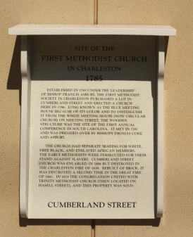 Site of the First Methodist Church Marker