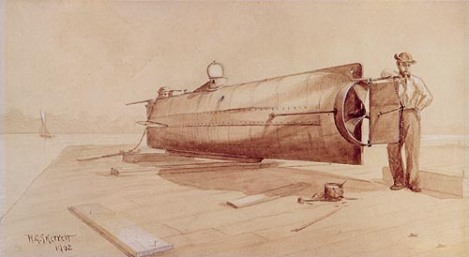 CSS H.L. HunleyR.G. SkerrettPen and ink drawing with wash, 190245-125-P