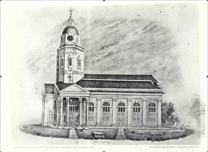 St. Philips, 1723, destroyed by fire.