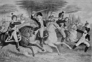 Washington and Tarleton at the Battle of Cowpens