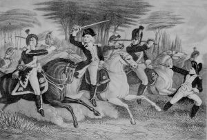 Washington and Tarleton at the Battle of Cowpens