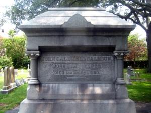 Calhoun's tomb in St. Philip's cemetery