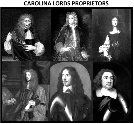 Six of the Lords Proprietors of the Carolina Colony