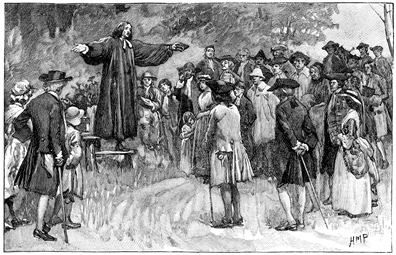 Rev. George Whitefield - open air preaching