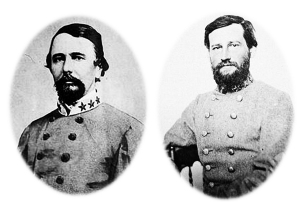 James Chesnut and Stephen Dill Lee, Confederate Aides-de-Camp to Gen. Beauregard. Courtesy Library of Congress