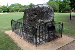 "Remnants of the ""horn work"" at Marion Square."