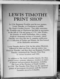 Lewis Timothy print shop