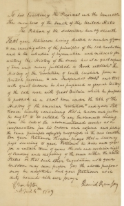 Ramsay's petition to Congress. National Archives