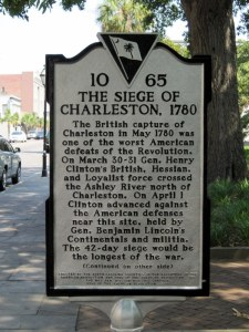 Siege marker on King Street @ Marion Square