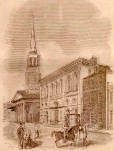 Meeting Street view of the 1806 Circular Church