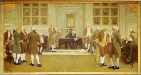 Albert Herter's painting of the Constitutional Convention.