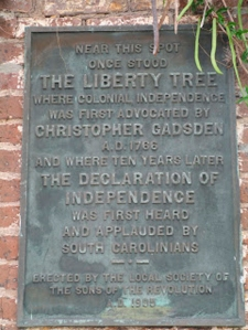 Liberty Tree marker on Alexander Street