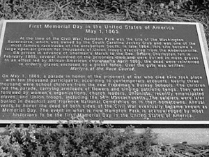 memorial day marker