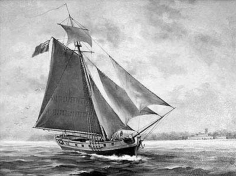A sloop, similar to the Three Brothers