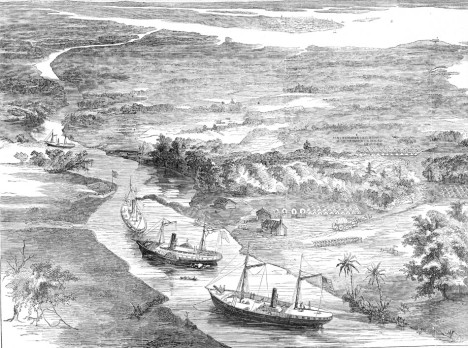 The Union army establishes a foothold on James Island on the Stono River. Harper's Weekly