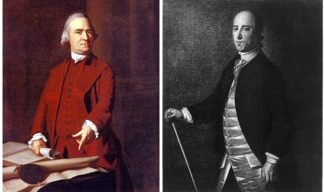 (L) - Sam Adams. (R) - Christopher Gadsden