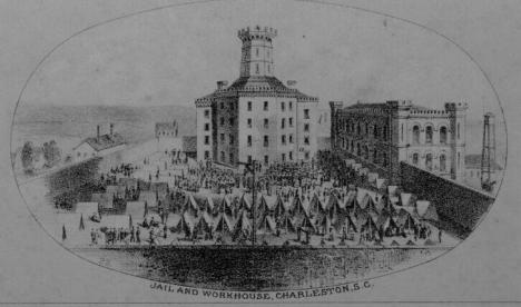 Charleston jail, workhouse and marine hospital, 1857