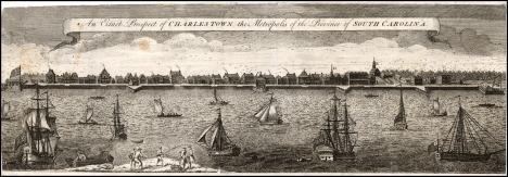 An Exact Prospect of Charlestown, by Bishop Roberts