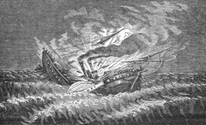 The sinking of the Pulaski
