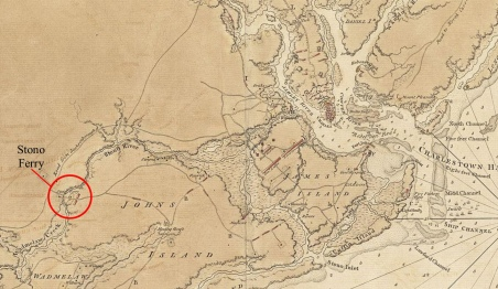 Map drawn by British officer, 1780.