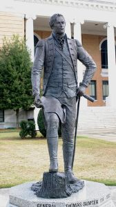 Statue of Gen. Sumter on the courthouse lawn, Sumter S.C.
