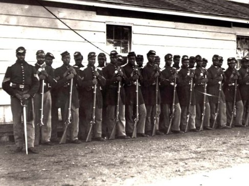 Soldiers from the 54th Massachusetts Regiment.