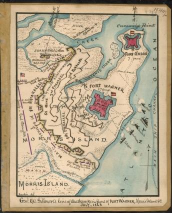 Map of Morris Island