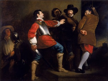 The capture of Guy Fawkes by Henry Perronet Briggs