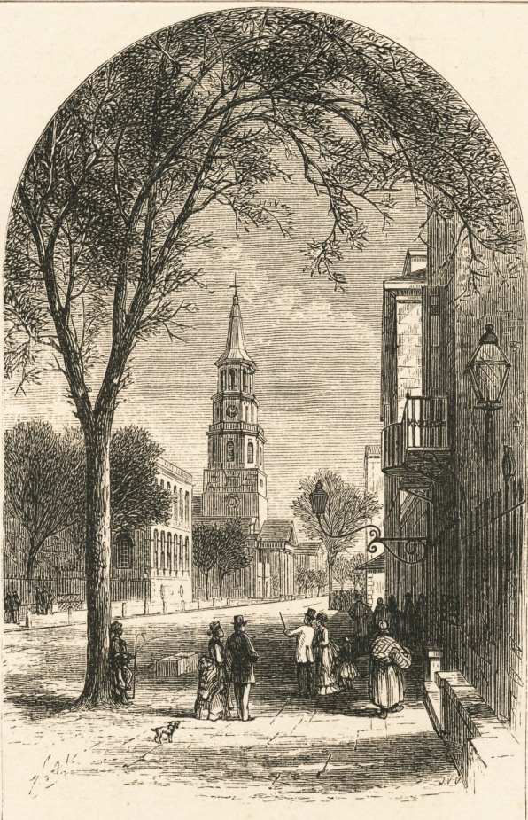 meeting street - st michaels - etching - cropped