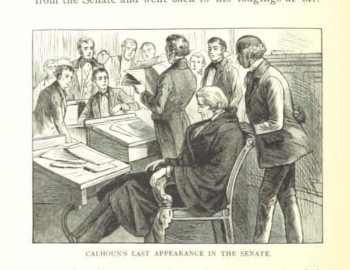 calhoun's last appearance in the senate